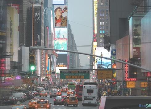 Außenwerbung am Times Square