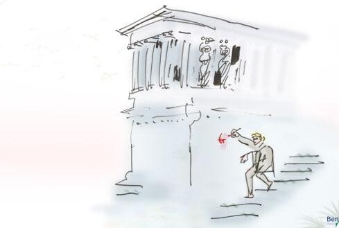 Graffito in Pompeji
