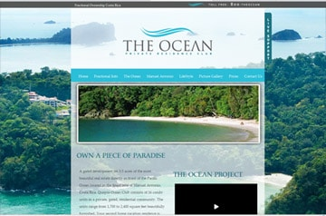 Webdesign the Ocean