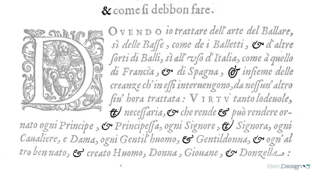 Quelle: Fabritio Caroso. Venetia. 1600. Nobiltà di dame del sr. Fabritio Caroso da Sermoneta...
