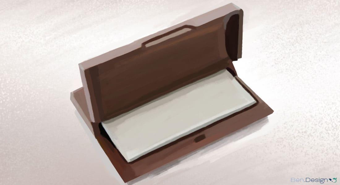 Bewahren Sie die Karten in einem schützenden Behälter auf.